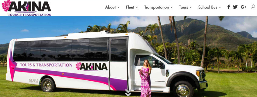 Web Design Spotlight: Akina Tours & Transportation